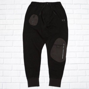 Adidas Y-3 Men Wool Jersey Cuffed Pants (black)