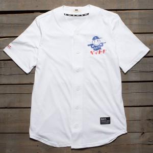 BAIT Men Nippon Logo Baseball Jersey Shirt (white)