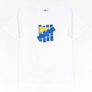 Undefeated Men 5 Strike Court Run Tee (white)