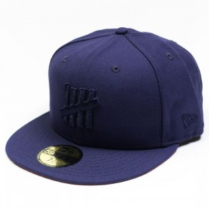Undefeated x New Era Eject Fitted Cap (navy)