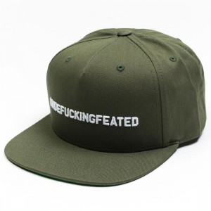 Undefeated UNDEFUCKINGFEATED Cap (green / army)