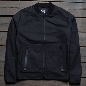 Adidas Y3 Men Leather Jacket (black)