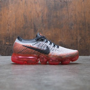 Nike Women Air Vapormax Flyknit Running (wolf grey / black-bright crimson)