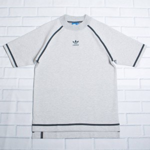 Adidas Men Taped Nova Tee (gray / grey heather / solid grey)