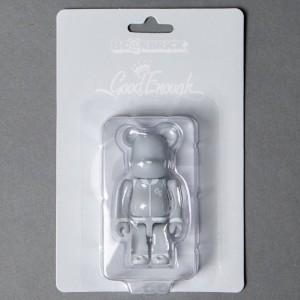 Medicom Goodenough Classic Gray 100% Bearbrick Figure (gray)
