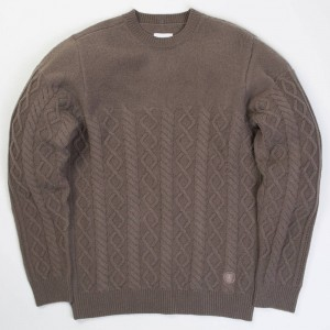 Adidas x Wings + Horns Men Felted Crew (brown / simple brown)