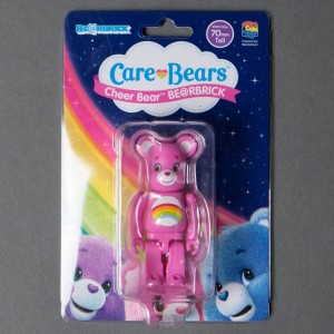 Medicom Care Bears Cheer Bear 100% Bearbrick Figure (pink)