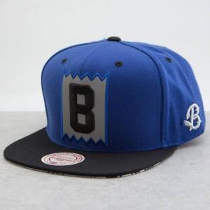 BAIT x Mitchell And Ness B Box Logo Snapback Cap - 3M (blue / black)