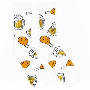 40s And Shorties Chicken And Beer Socks (white)