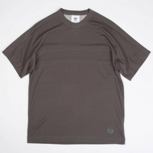 Adidas x Wings + Horns Men Short Sleeve Tee (gray / cinder)