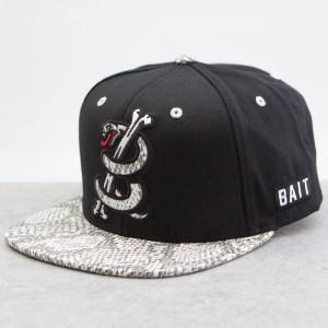 BAIT Snake Logo Starter Snapback Cap (black / white)