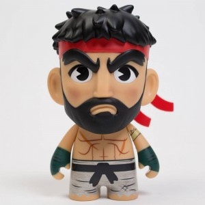 Kidrobot x Street Figher V Hot Ryu 7 Inch Art Figure (tan)