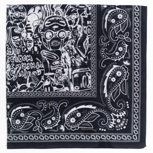Billionaire Boys Club x Hebru Brantley Bandana (black)