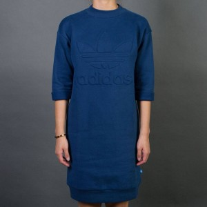 Adidas Women Sweat Dress (blue / mystery blue)