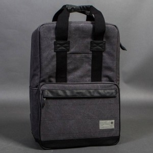 Hex Convertible Backpack (gray / charcoal canvas)