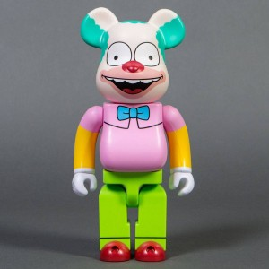 Medicom The Simpsons Krusty The Clown 400% Bearbrick Figure (pink / green)