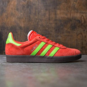 Adidas Men Gazelle (red / semi solar green / gum)