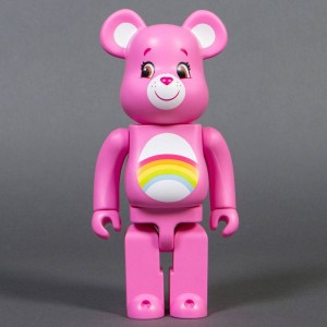 Medicom Care Bears Cheer Bear 400% Bearbrick Figure (pink)