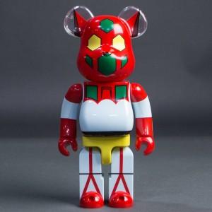Medicom Getter Robot Getter 1 400% Bearbrick Figure (white / red)