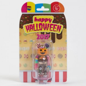 Medicom 2017 Halloween 100% Bearbrick Figure (brown)