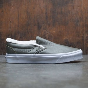 Vans Men Classic-Slip On - Leather (green / grape leaf)