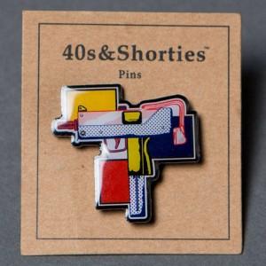 40s and Shorties Gun Pop Pin (multi)