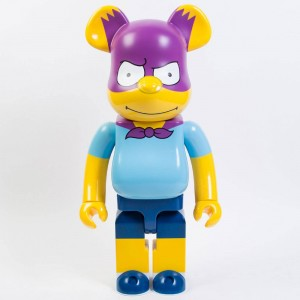 Medicom The Simpsons Bartman 1000% Bearbrick Figure (blue / purple)