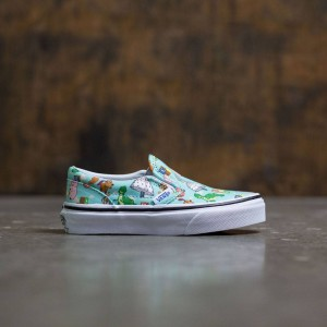 Vans x Disney Pixar Toy Story Little Kids Classic Slip-On - Andys Toys (blue / tint)