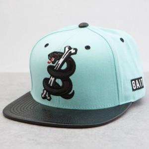 BAIT Snake Logo Starter Snapback Cap (teal / black)