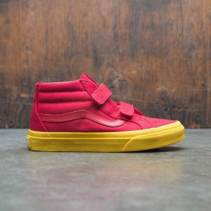 Vans Big Kids Sk8-Mid Reissue V (red / gold)