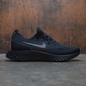Nike Men Epic React Flyknit Betrue (black / black-pink blast-purple pulse)
