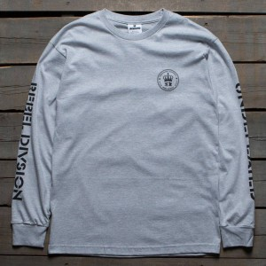 Undefeated x SYR Men SYR Crest Long Sleeve Tee (gray / heather)