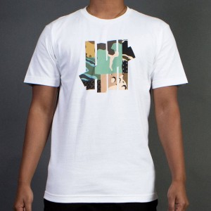 Undefeated Men Patchwork Strike Tee (white)