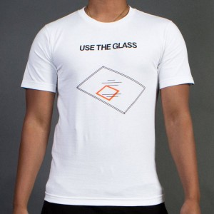 Undefeated Men Use The Glass Tee (white)