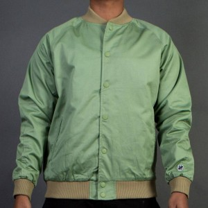 Undefeated Men Sideline Twill Bomber Jacket (green / sage)