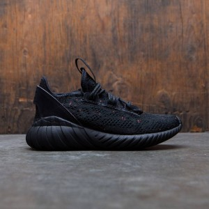 Adidas Big Kids Tubular Doom Sock Primeknit J (black / core black / trace olive)