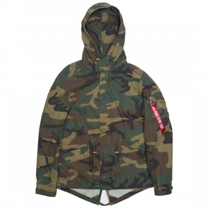 Alpha Industries Women Swoop Fishtail Coat (camo / woodland)