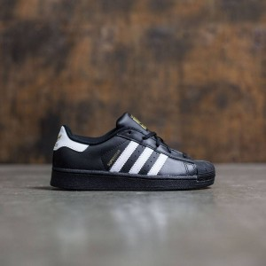Adidas Little Kids Superstar Foundation (black / core black / footwear white)