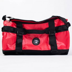 Vans x The North Face Base Camp Duffel Bag (red / black)