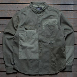10 Deep Men Lazarus Workshirt (green / army)