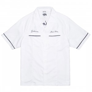Billionaire Boys Club Men Five Star Woven Shirt (white)