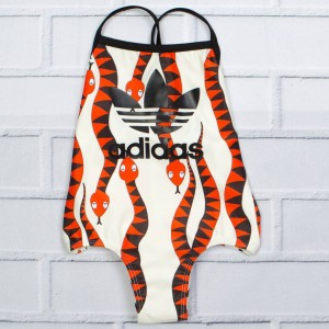 Adidas Little Kids Mini Rodini Swimsuit (multi / bold orange)