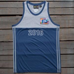 2afa6799a6b Adidas x Pharrell Williams Men Hu Race Tank Top (blue   night marine)