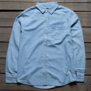 Stussy Men Denim Shirt (blue / light blue)