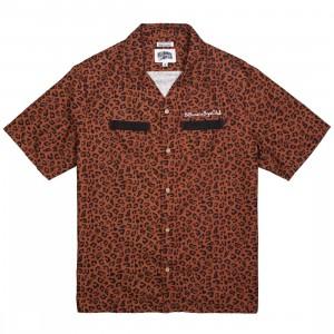 Billionaire Boys Club Men Leone Woven Shirt (brown / cheetah / cinnamon)