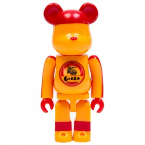 Medicom Kamenoko Tawashi 100% Bearbrick Figure (orange)