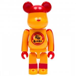 Medicom Kamenoko Tawashi 100% Bearbrick Figure (orange)
