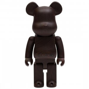 Medicom Karimoku Wenge 400% Bearbrick Figure (brown)