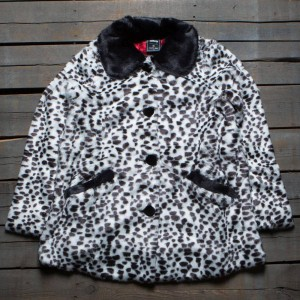 Lazy Oaf x Disney Women 101 Dalmations Cruella Fur Coat (black / white)