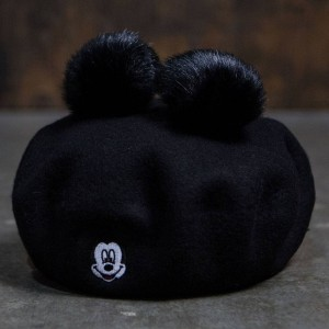 Lazy Oaf x Disney Mickey Mouse Beret (black)